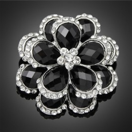 "Broche ""Tahiti"" black"