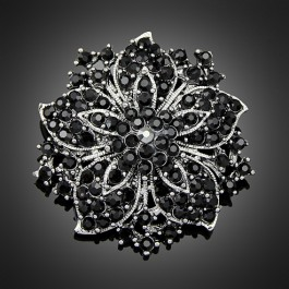 "Broche ""Gaïa"" black"